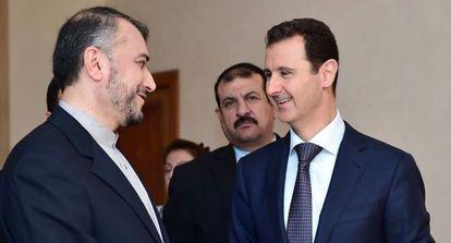 Bachar El Asad con el viceministro iraní de Exteriores el pasado jueves