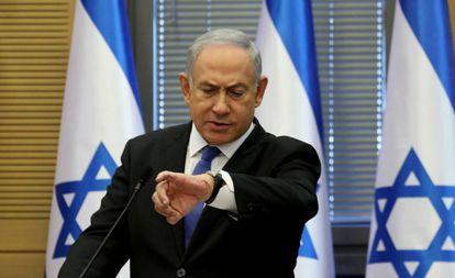 El primer ministro israelí, Benjamín Netanyahu, el miércoles en el Parlamento.