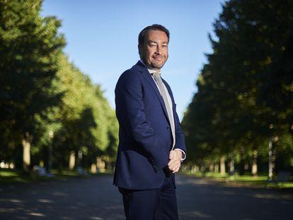 Ramón Gonzalo, rector de la Universidad Pública de Navarra, este miércoles en el campus, en Pamplona.