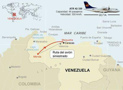 Un avión comercial con 46 personas a bordo se estrella en el Páramo Piedra Blanca de Mucuchíes, cerca de Mérida.