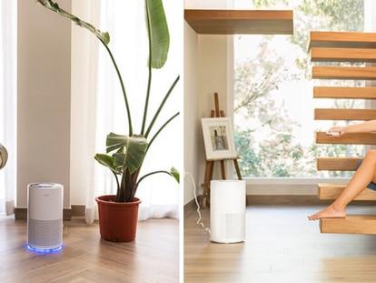 En color blanco y con un diseño cilíndrico, el purificador se puede colocar en cualquier estancia.