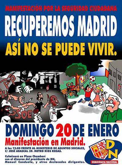 El cartel de la marcha