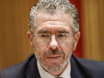Francisco Granados, en la comisión de investigación sobre la presunta financiación ilegal del PP.