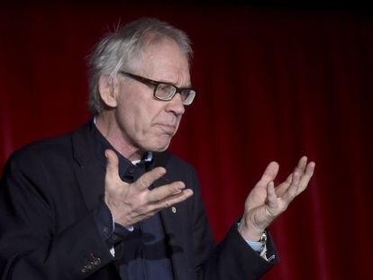 El caricaturista sueco Lars Vilks, durante un encuentro sobre libertad de expresión en Helsinki en 2015.
