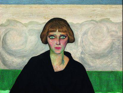 'Nahui Olin' (1922), retrato de la pintora mexicana realizado por Dr. Atl (Gerardo Murillo).
