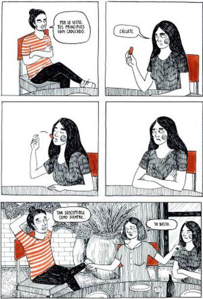 Viñeta de la novela gráfica 'Chucrut', de la ilustradora Anapurna.