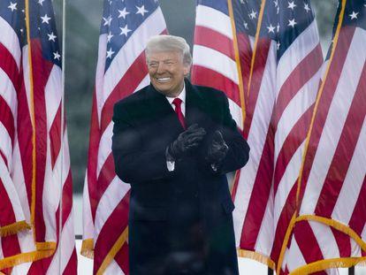 El expresidente Donald Trump, en un mitin cerca de la Casa Blanca el 6 de enero de 2021.