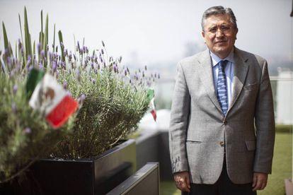 Luis Raúl González, en la sede de la CNDH hace dos semanas.