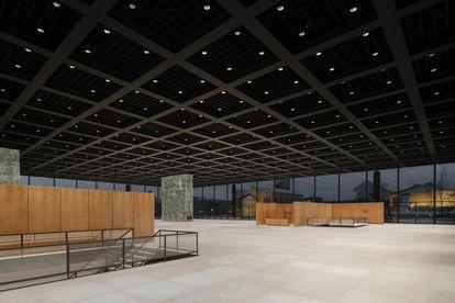 Interior de la Neue Nationalgalerie, diseñada por Mies van der Rohe, tras la restauración llevada a cabo por el arquitecto David Chipperfield,