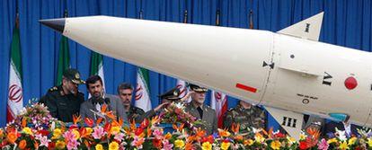 Exhibición de un misil iraní