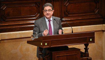 El portavoz del PP en el parlamento catalán, Enric Milló.