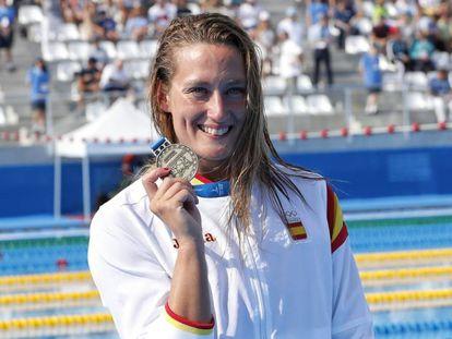 Mireia Belmonte, en los Juegos del Mediterráneo