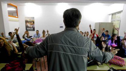 Clase de religión en un instituto de Madrid en una imagen de archivo.