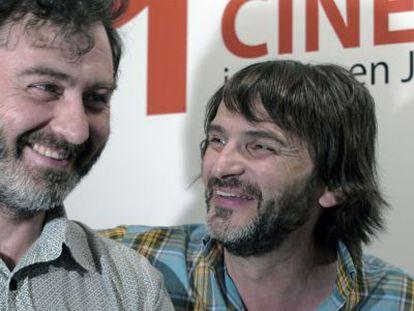 Max Lemcke, izquierda, y Fernando Tejero, en Jaén.