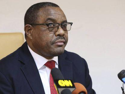 El primer ministro de Etiopía, Hailemariam Desalegn, este jueves en Addis Abeba.