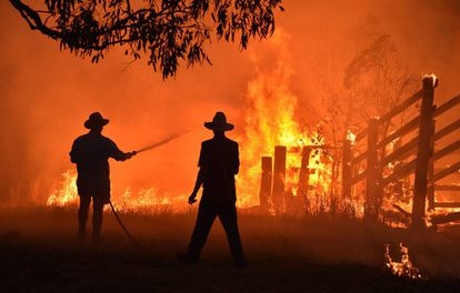 Incendio forestal en Hillsville, a 350 km al norte de Sydney, en noviembre.