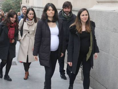 Isabel Serra, a su llegada este miércoles al TSJM. En vídeo, declaraciones de Serra este jueves.