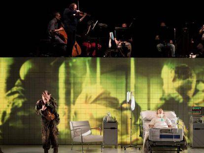 Una escena del espectáculo Historia de un soldado que se representará en el Festival de Peralada