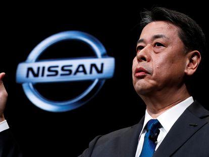 Makoto Uchida, consejero delegado de Nissan, en una rueda de prensa.