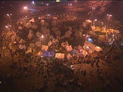 Acampada en la plaza Tahrir. Vídeo: Atlas