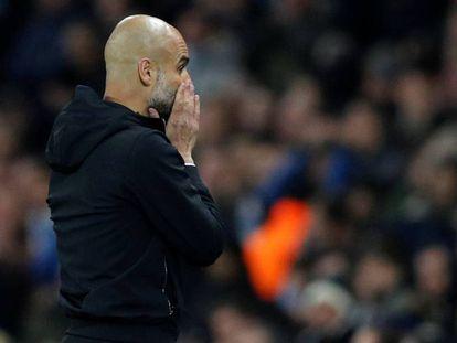 Guardiola durante el partido ante el Liverpool por la Champions. En vídeo, declaraciones de Ernesto Valverde, entrenador del FC Barcelona y Josep Guardiola, entrenador del Manchester City.