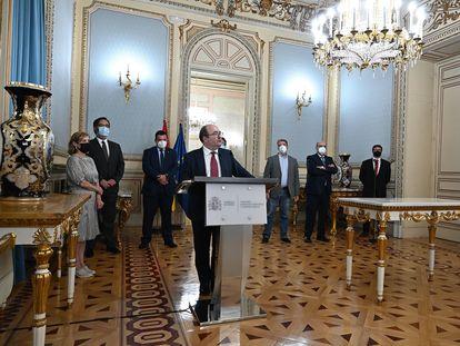 El ministro de Política Territorial y Función Pública, Miquel Iceta, este lunes en Madrid.
