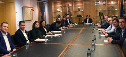 Reunión celebrada hoy en el CSD