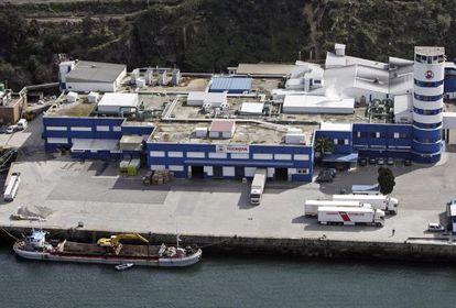 Instalaciones de Pescanova en la central de Vigo (Pontevedra).