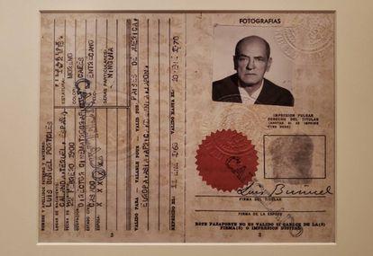 El pasaporte mexicano de Luis Buñuel.