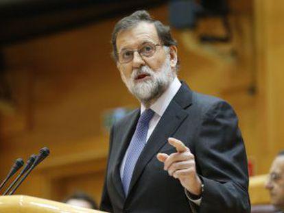 """El presidente pide aplicar el 155 ante """"un proceso continuado de decisiones antidemocráticas"""""""