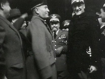 Mussolini y el comandante Graziani, en una imagen sin fecha.