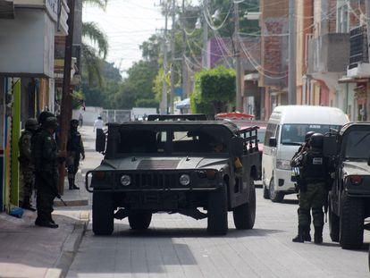 Miembros de la Guardia Nacional durante el operativo contra El Marro en Guanajuato.
