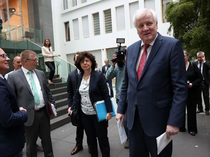 El ministro del Interior alemán, Horst Seehofer, este jueves en Berlín.