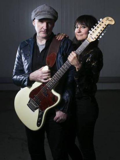 Juan Aguirre y Eva Amaral en 2016.
