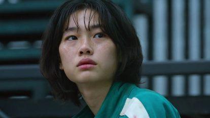HoYeon Jung, en una escena de la serie 'El juego del calamar'.