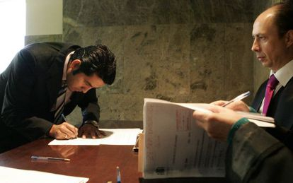 En los registros civiles (en la imagen, uno ubicado en Madrid), se inscriben  los nacimientos, los matrimonios o las defunciones.