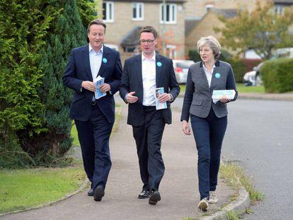 May y su predecesor hacen campaña con el candidato a sustituir a Cameron.