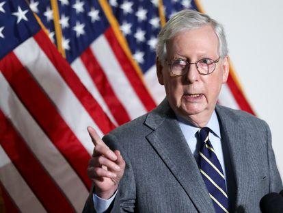 El líder del partido republicano en el senado, Mitch McConnell, el pasado 26 de enero.