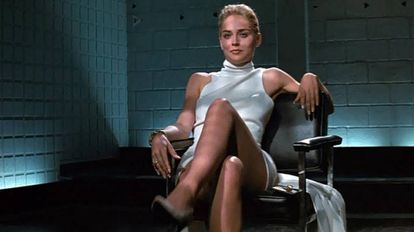 Actress Sharon Stone in one of the scenes from 'Basic Instinct'.