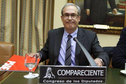 Gregorio Martínez, tesorero del PSOE, en el Congreso.