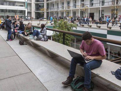 Instalaciones de la Universidad Pompeu Fabra en Barcelona.