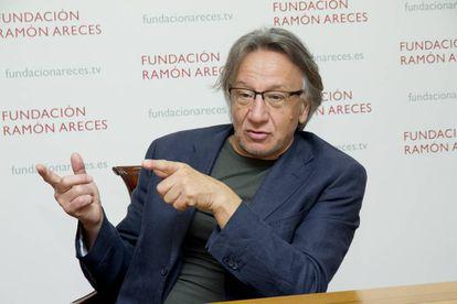 El economista italiano Michele Boldrin el pasado mes de junio en Madrid.