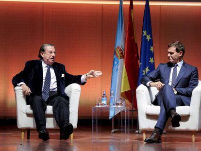 Albert Rivera y Francisco Vázquez en un acto en A Coruña.