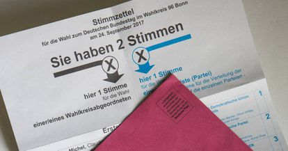 Papeletas de voto para las elecciones federales del 24 de septiembre.