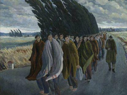 'Camí de l'exili' (1940), óleo de Josep Franch-Clapers.