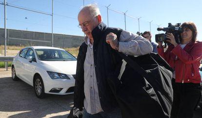 El expresidente de Caja Madrid y Bankia Rodrigo Rato, a su llegada a la prisión madrileña de Soto del Real, el pasado octubre.