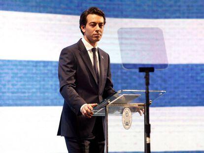 Sartori, en el lanzamiento de su precandidatura a la presidencia por el PN.
