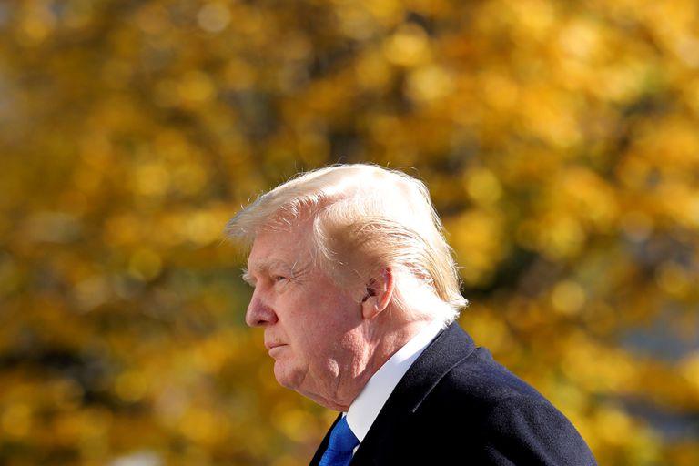 Donald Trump, en los jardines de la Casa Blanca, en una imagen del 29 de noviembre.