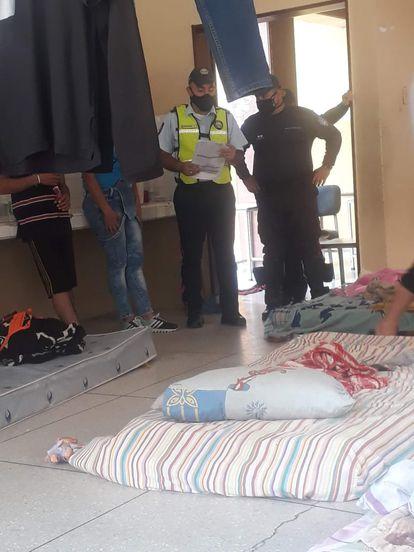 Un refugio para migrantes retornados en el Estado venezolano de Táchira.