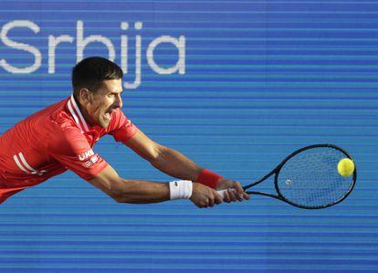 Djokovic, recientemente en el torneo de Belgrado.